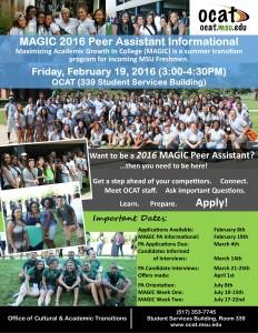 MAGIC PA Info.