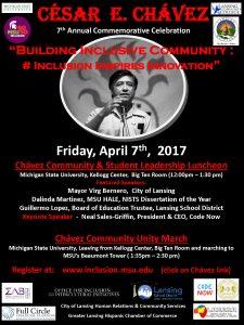 7th Annual Cesar Chavez Commemorative Celebration @ Kellogg Center Big Ten Room