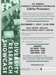 Diversity Research Showcase @ MSU Union, Mosaic: Multicultural Unity Center