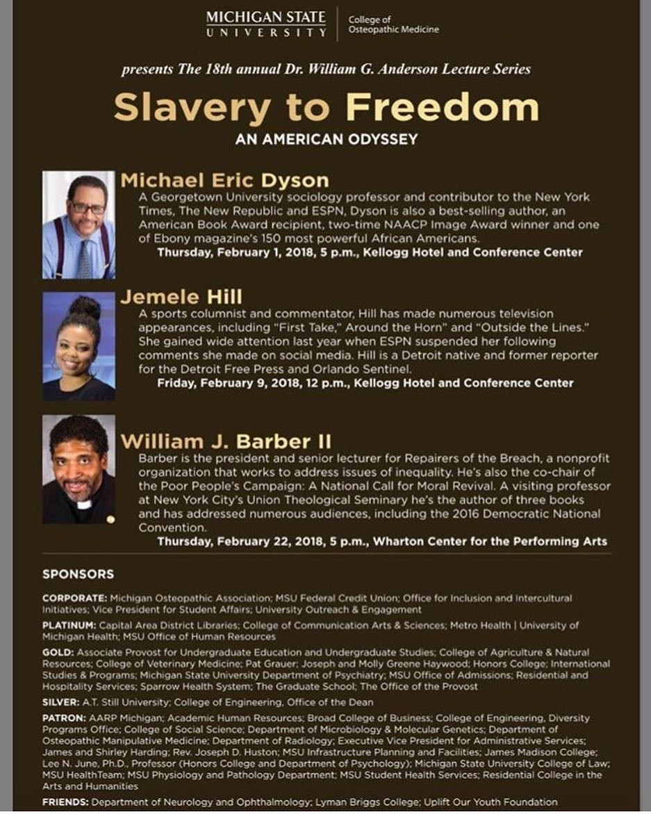 William J Barber II Lecture @ Wharton Center for the Performing Arts | East Lansing | Michigan | United States