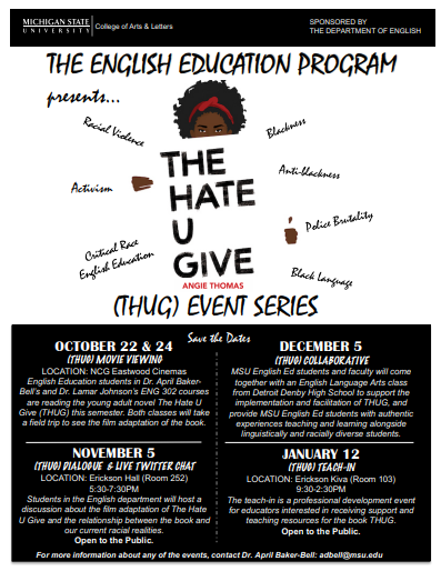 The English Education Program Presents... (THUG) Event Series