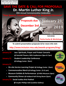 Dr. Martin Luther King Day Event @ Kellog Center