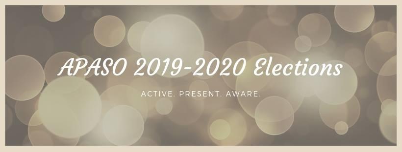 APASO 2018-2019 Eboard Elections @ VC Room, Holden Hall basement