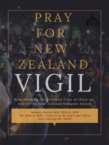 Pray for New Zealand Vigil @ The Rock
