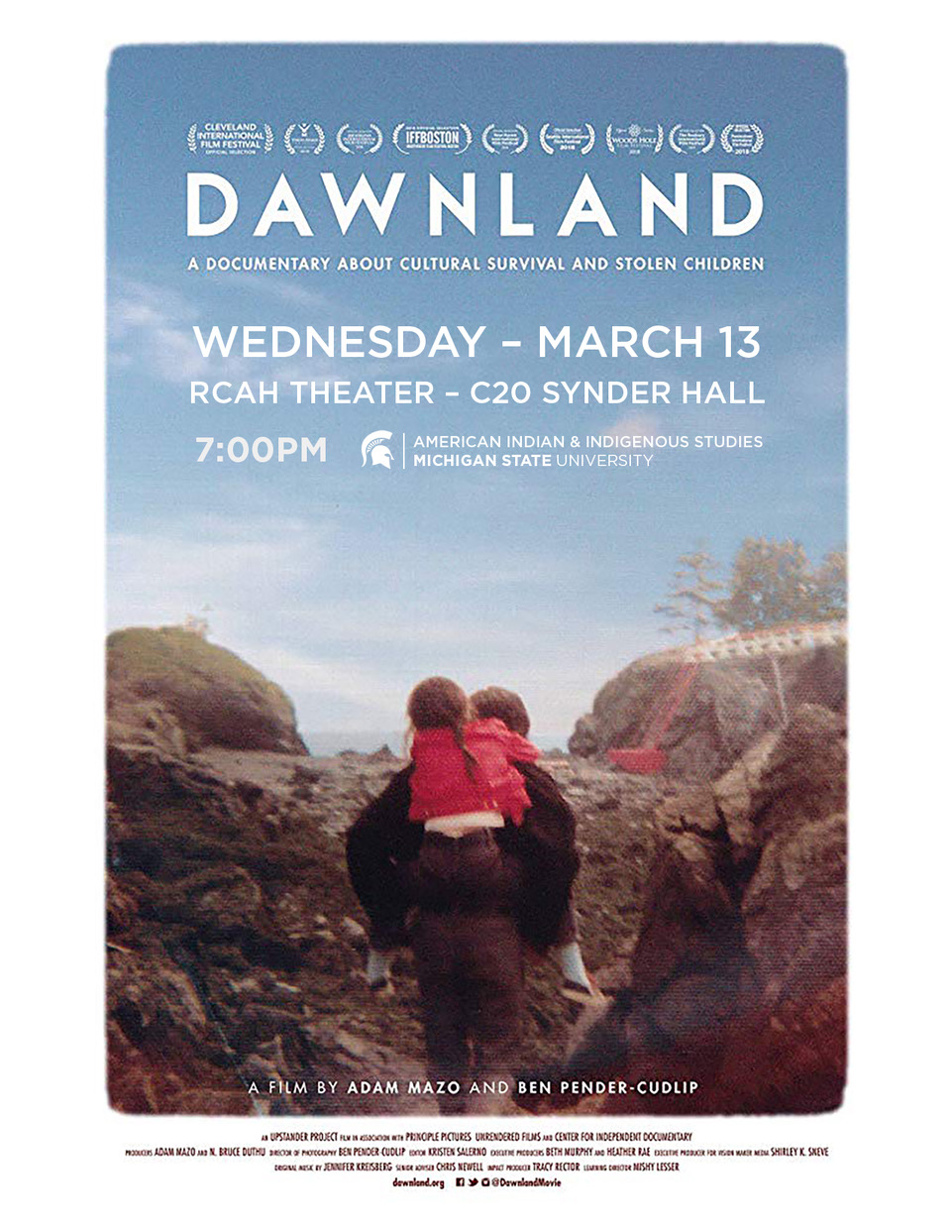 Film Feature: Dawnland @ RCAH Theater- C20 snyder hall