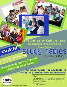 OCAT Study Tables (1:00PM-5:00PM) @ OCAT