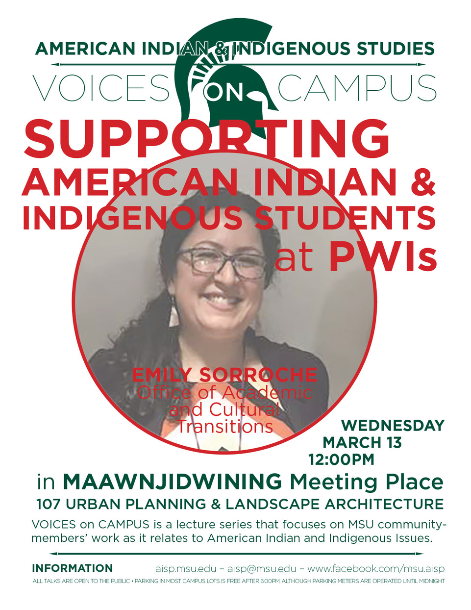 Voices on Campus: Supporting American Indians and Indigenous Students at PWI's @ Room 107 UPLA