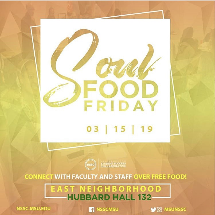 Soul Food Fridays @ Hubbard Hall 132