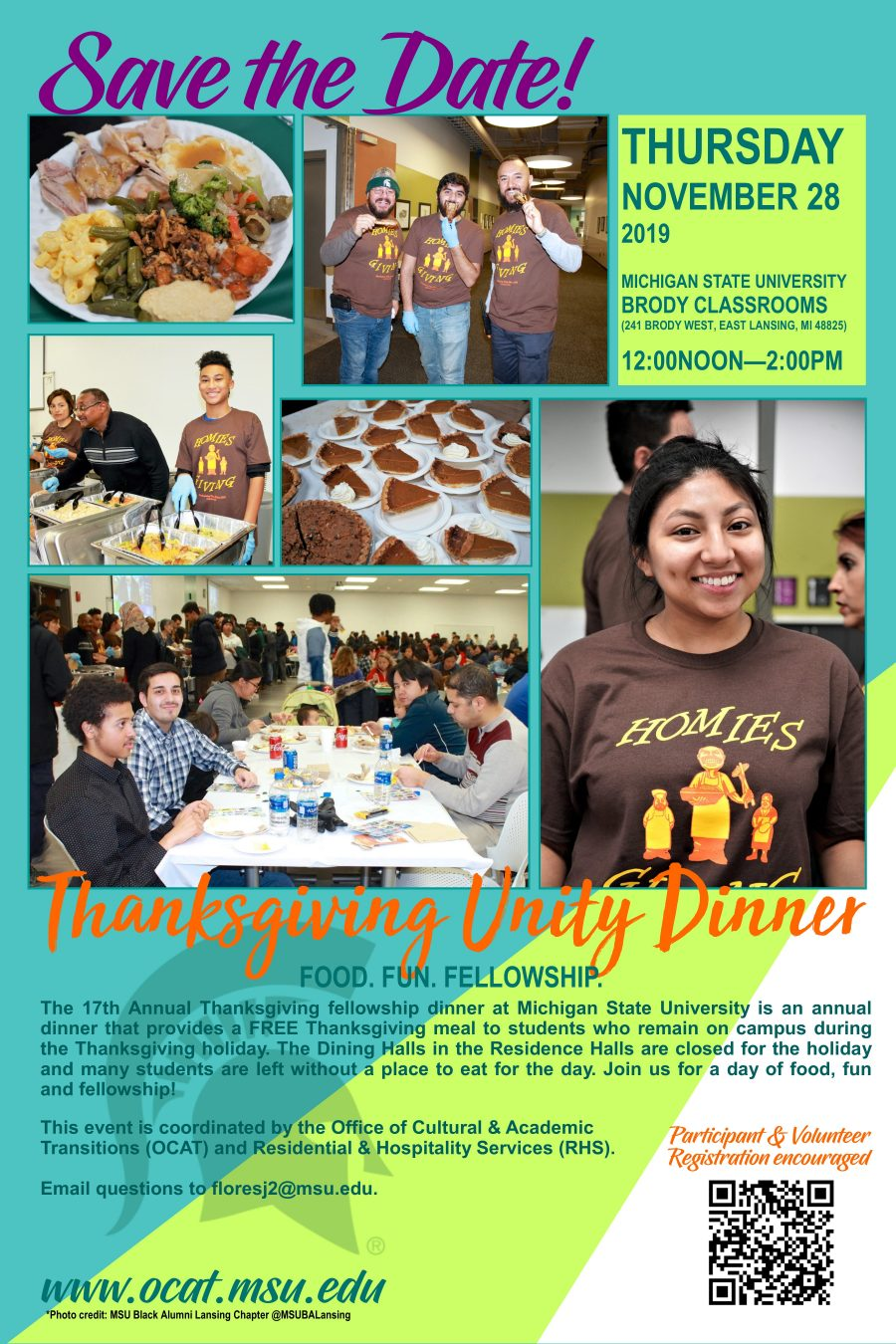 Thanksgiving Unity Dinner @ Brody Classrooms