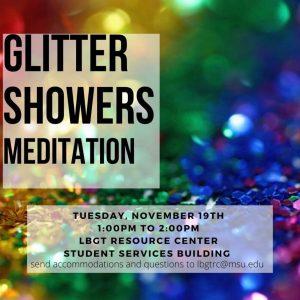 Glitter Showers Meditation @ LBGT Resource Center