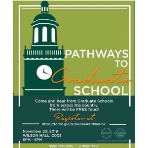 Pathways to Graduate School @ Wilson Hall Rm C003