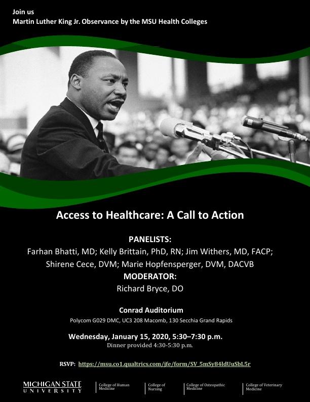 Access to Healthcare: A Call to Action @ Conrad Auditorium