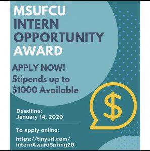 MSU FCU Intern Opportunity Award Deadline