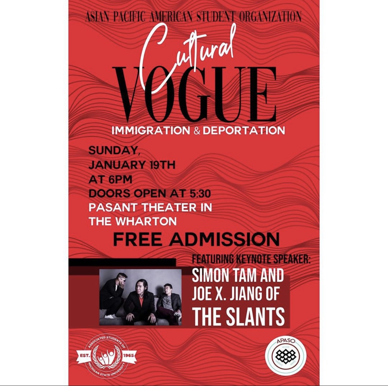 Cultural VOGUE Immigration and Deportation @ Pasant Theater in The Wharton