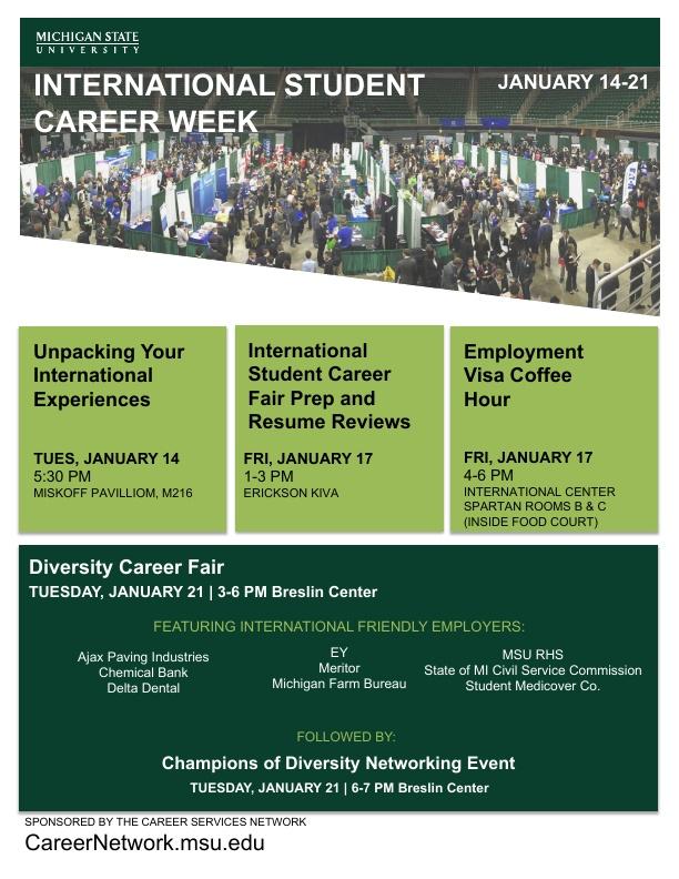 International Student Career Week