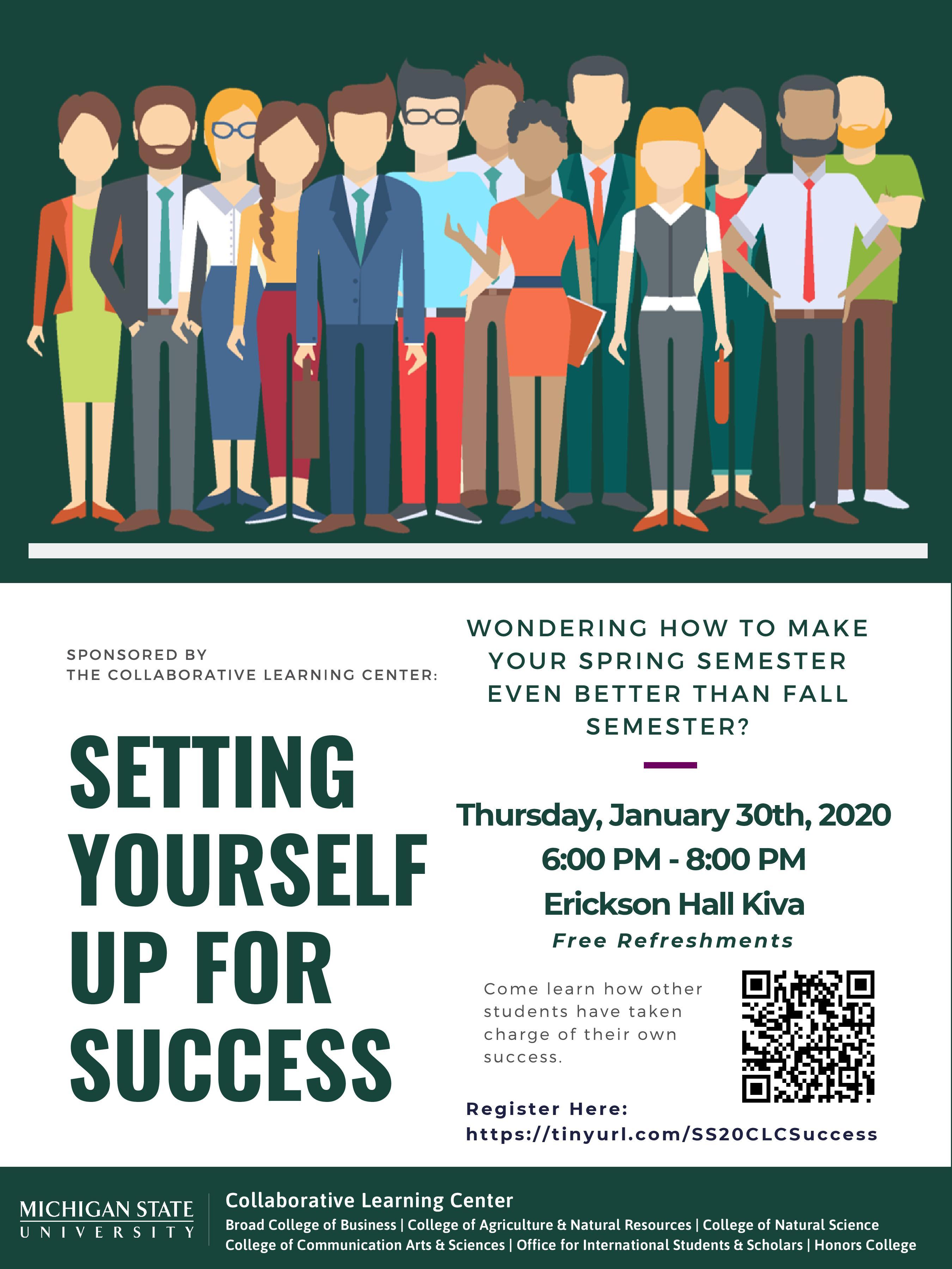 Setting Yourself Up For Success @ Erickson Hall Kiva