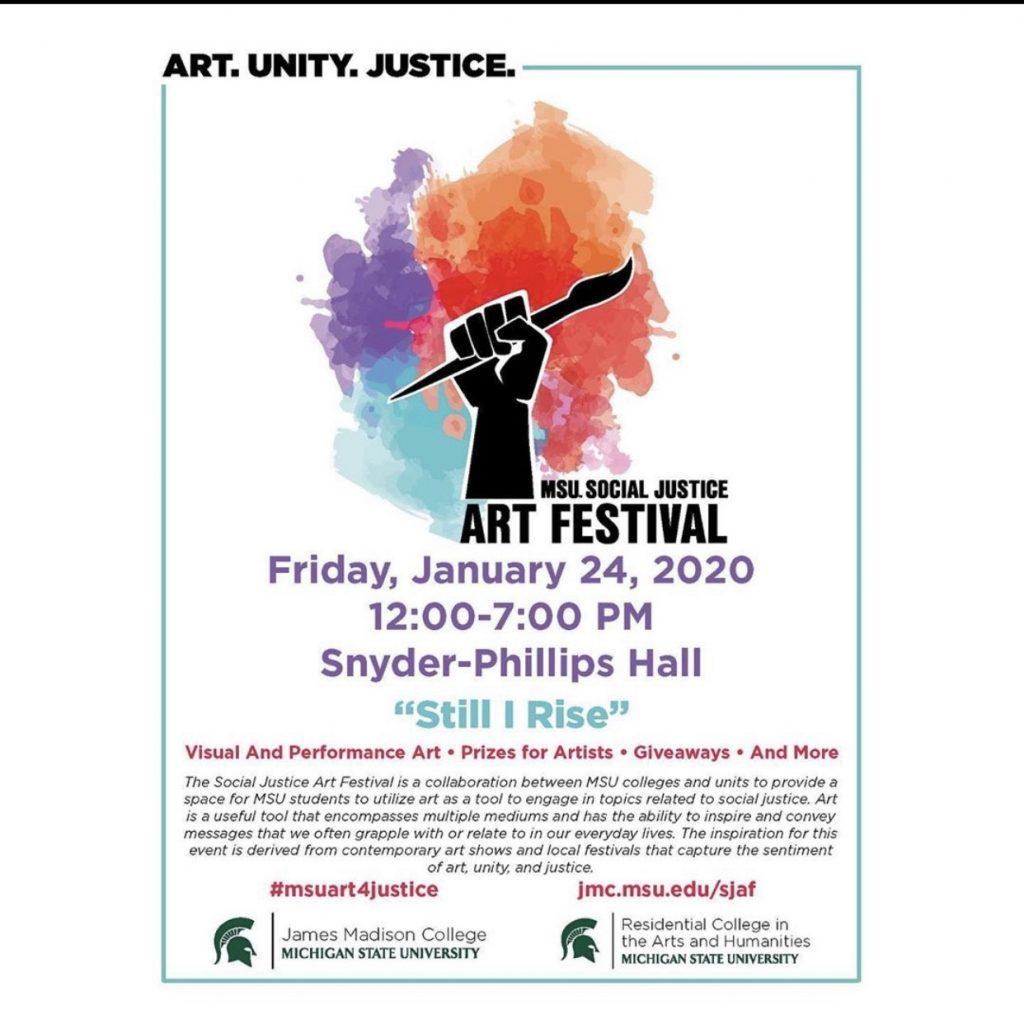 MSU Social Justice Art Festival @ Snyder-Phillips Hall