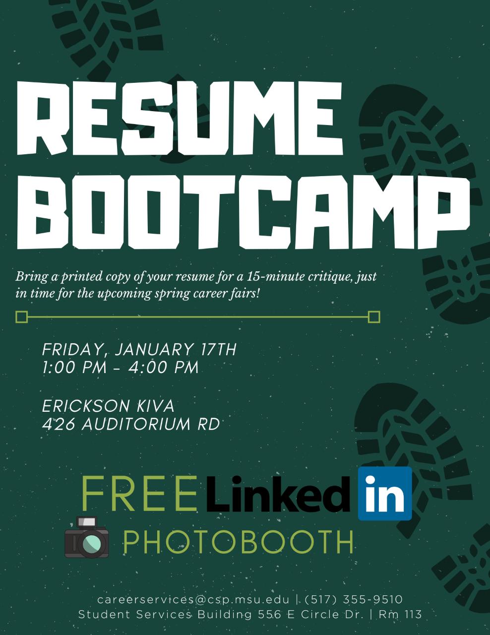 Resume Bootcamp @ Erickson Kiva