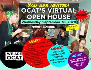 OCAT Open House @ ZOOM