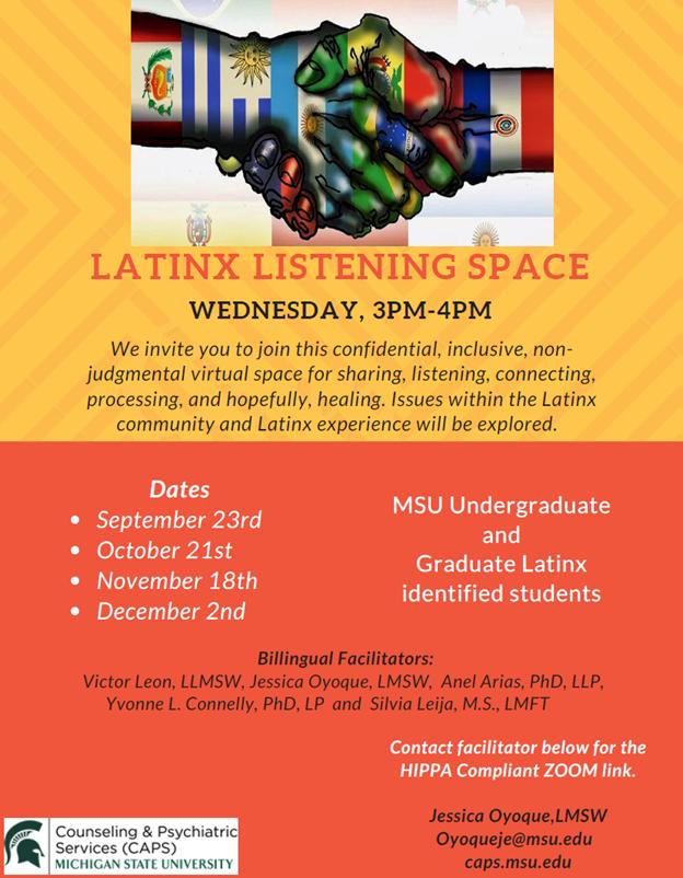 Latinx Listening Space @ ZOOM