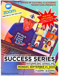 Success Series featuring Eric Thomas, PhD