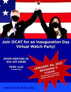 OCAT Inauguration Virtual Watch Party