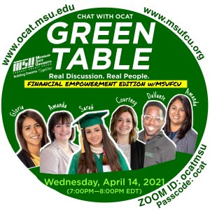 """OCAT's Green Table """"Financial Empowerment"""""""