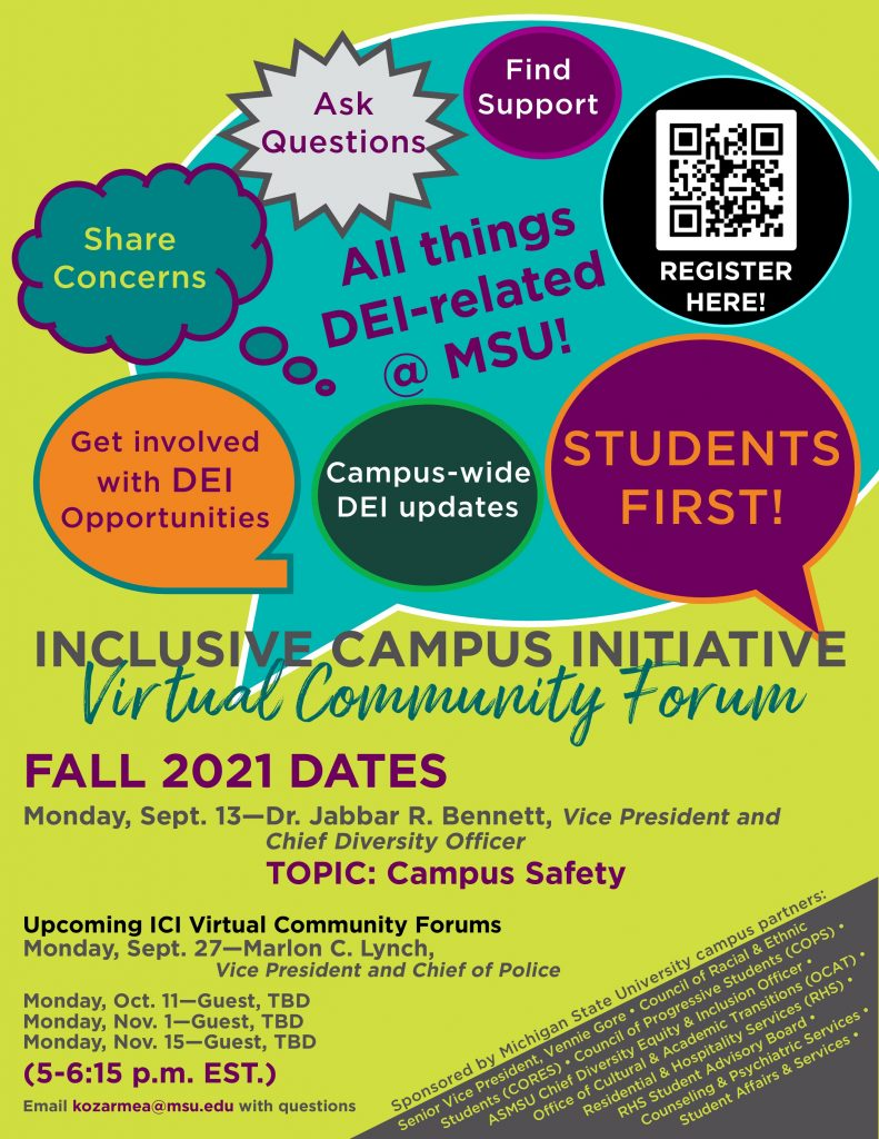 Inclusive Campus Initiative Virtual Community Forum @ ZOOM