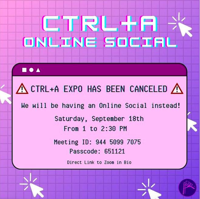 CTRL+A Online Social @ Erickson Hall - KIVA Room 103