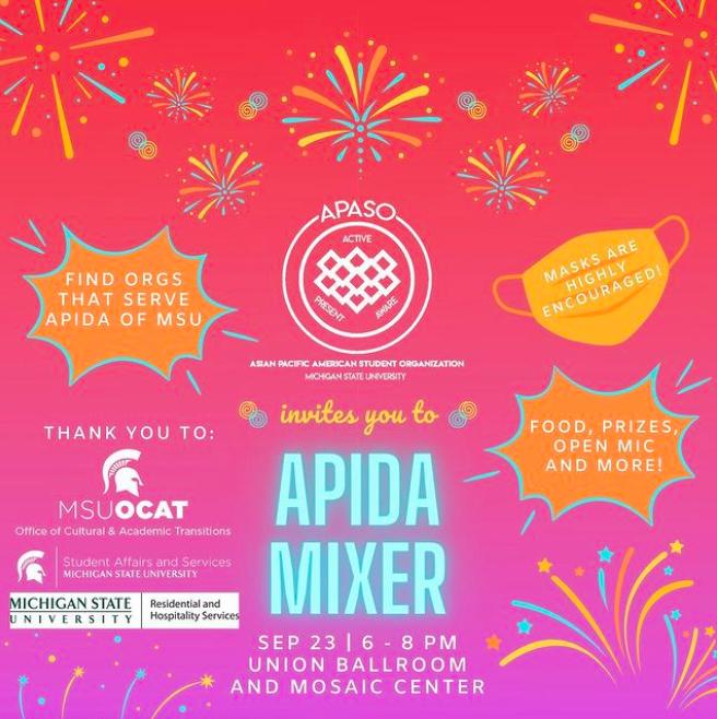 APIDA Mixer @ MSU Union Ballroom & Mosaic Room