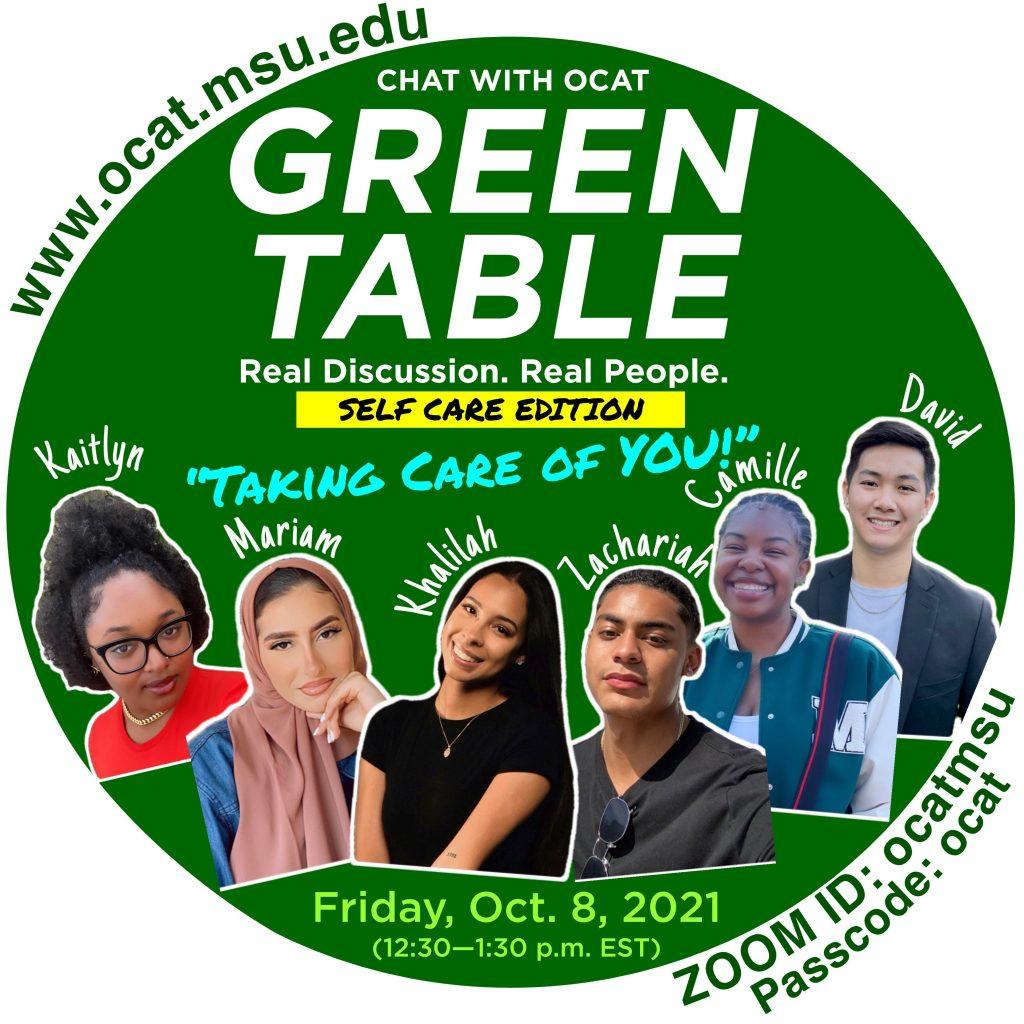 OCAT's Green Table Self-care edition