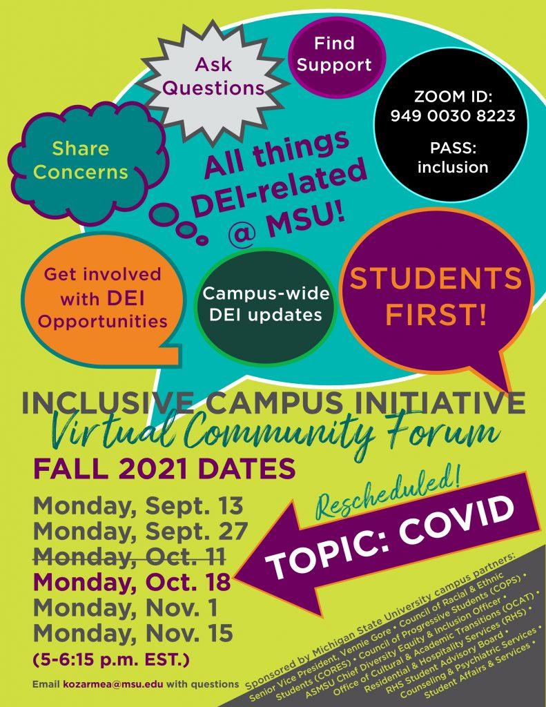 Inclusive Campus Virtual Community Forum